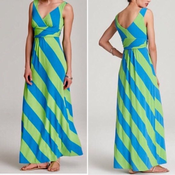 Lilly Pulitzer Stripe Sloan Maxi Dress Size Medium